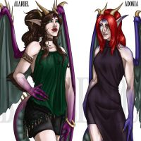 Modern Alariel and Adonia by Kalid909