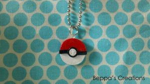 Pokeball Charm by BeppasCreations