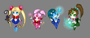 Sailor Moon Chibi Bots by Phanteia