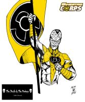 Sinestro Black-White+Yellow by Chimy-The-Zombie