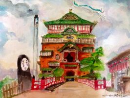 Spirited Away's Bathhouse by littlemissmarikit