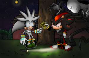 Shadow and Silver play Slender by SonicKnight007