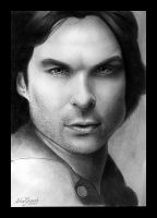 Damon Salvatore by MishaART
