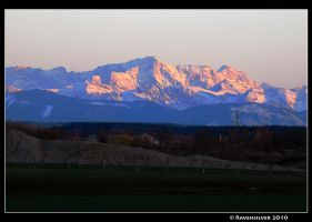 Alps at evening by Ravensilver
