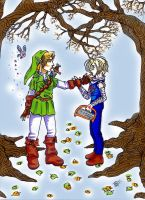 Link and Sheik in love by lee-neko