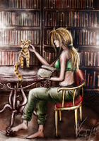 In the library by Cata-Luu