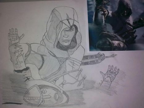 my drawing of altair by double-kick94