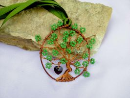 Tree pendant Wire wrapping by Mirtus63
