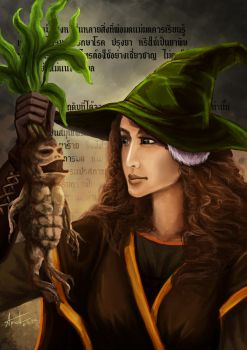 (Day 16) Herbalist - Female by ProfBell
