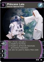 Leia CCG card by kwills84