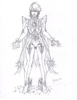 Bayonetta 2 costume sketch by lovedark334