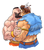 Zangief XX T Hawk by poipopoi