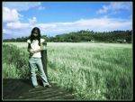 Girl By The Paddy Field by asrulmm