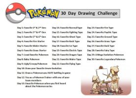 Pokemon 30 Day Drawing Challenge by OrangeCreamSwirl