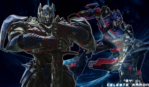 Optimus Prime: Blue hero by celtakerthebest