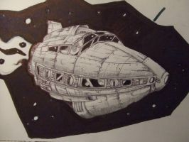 spaceship by croustipote