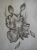 Lotus tattoo design by Malitia-tattoo89
