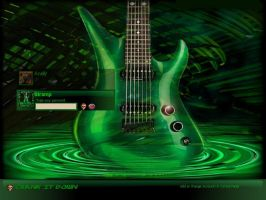 Sweet Green Guitar by stramp1a