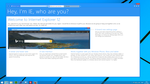 Internet Explorer 12 Welcome screen by Studio384