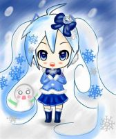 Kawaii Snow Miku 2012 by Pokkiu