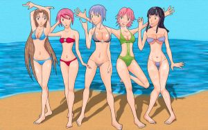 At the beach by AniMaArtist