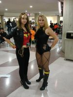 Wonder Woman and Black Canary by Catgirl-Calla