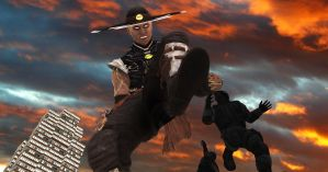 Attack of The Giant Kung Lao - 1 by giantmanstomp