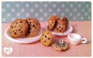 Miniature Choco chip Cookies by kicat