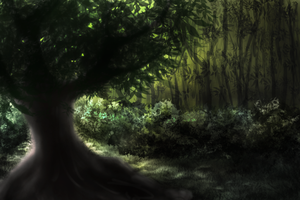 1h Speedpaint (environment) by Auxuris