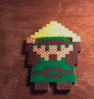 Link With Triforce Piece Perler by Perler-Pop