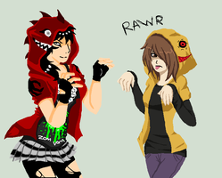 we is monsters RAWR by Loli-Zombie