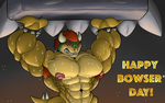 Thwomp Ups - Happy Bowser day by Wolfgerlion