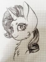 Rarity Sketch by MintPencil