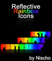 Reflective Rainbow Icons by Nischo