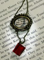 Quoth the Raven Nevermore Book Neclace by NeverlandJewelry