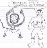 Hulk and a chimp by SHODANFreeman