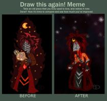Ew and After (before and after meme) by StellaStarfish