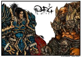 King Varian Wrynn and Garrosh Hellscream FDG by FranzDG