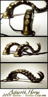 Golden Astaroth Horns by taeliac