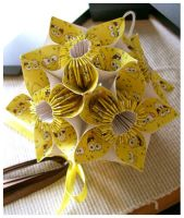 SpongeBob Kusudama by wastedlimes