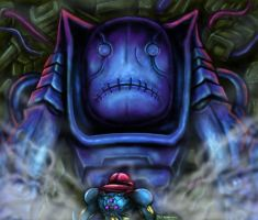 Metroid Fusion - Encounter With Nightmare by SoulStryder210