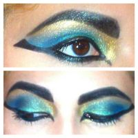 Cleopatra/ Egyptian Inspired Eyes by KLRainbow