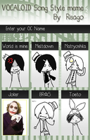 the vocaloid song style meme :I by UTAUoncie