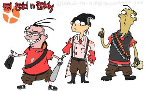 Team Fortress Ed crossover by lokami-the-wolf