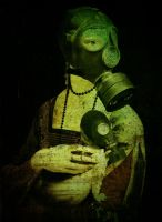 Lady with an Ermine  in Gasmasks by Satericon