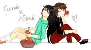Jamie and Miguel by SerEnyPie