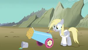 Derpy's got a cannon: need help with captions by Birdco