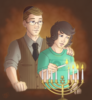 Hanukkah Memory: pic and text by GI-Ace