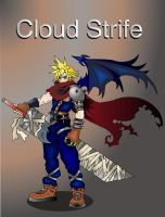 "Cloud From KH ""old work"" by Artemisthefox"