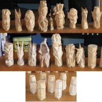 Wooden Chess Pieces by Tahirbrown